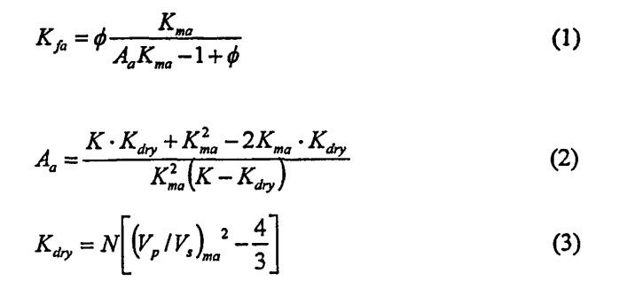 Определение параметров флюида по данным акустического каротажа