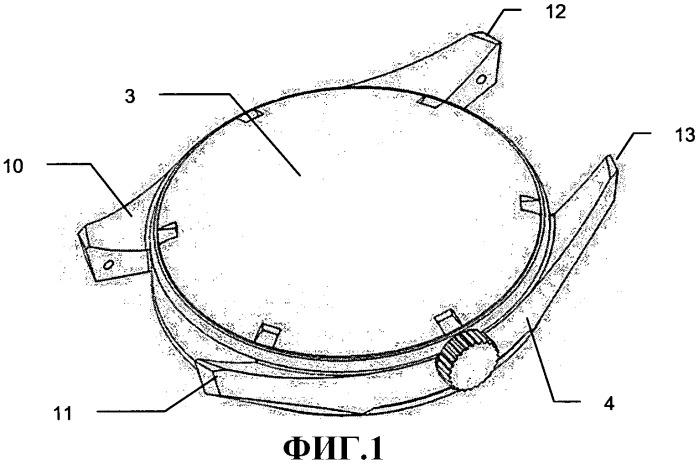 Часы, содержащие средний корпус, выполненный механической обработкой в блоке из сверхтвердого материала