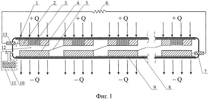 Многоэлементный термоэмиссионный электрогенерирующий канал