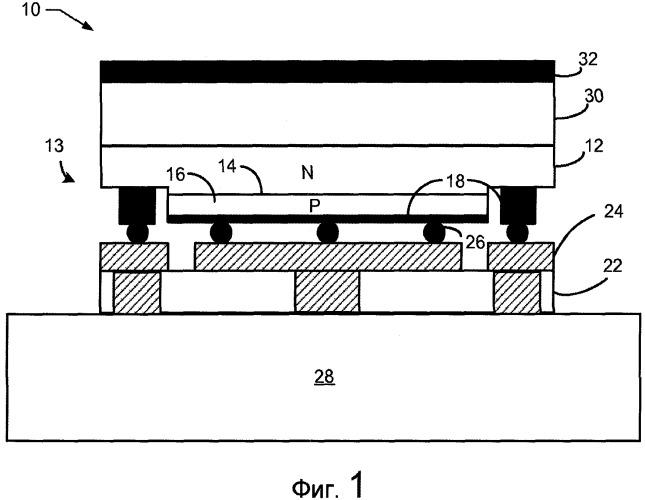 Светоизлучающий диод бокового излучения с силиконовой линзой, поддерживаемой криволинейным силиконовым участком