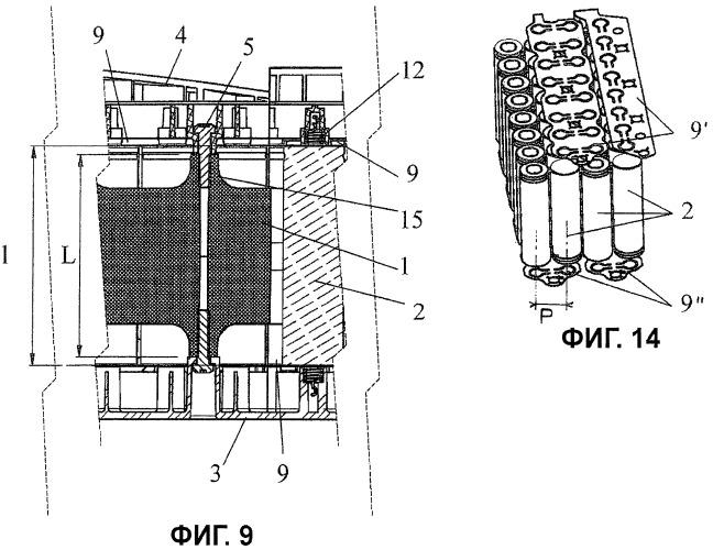 Батарея, состоящая из множества ячеек, установленных и соединенных между собой без применения сварки