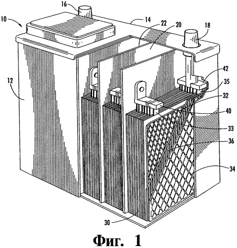Способ изготовления отрицательной решетки аккумулятора