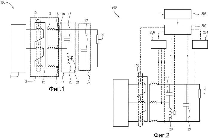Устройство электропитания для непосредственного электрического нагрева системы трубопровода