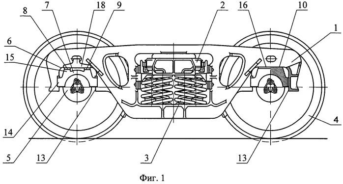 Адаптер подшипникового узла боковой рамы тележки, преимущественно грузового вагона