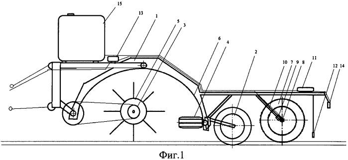 Комбинированный ботвоуборочный агрегат