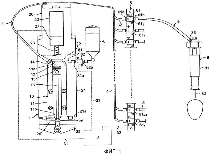 Система распределения вещества для устройства для инъекции яиц