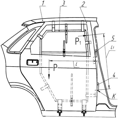 Способ монтажа двери на кузове легкового автомобиля