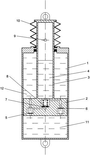 Гидравлический гаситель колебаний для подвижного состава