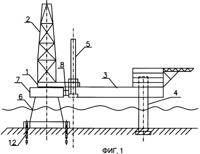 Ледостойкий буровой комплекс для освоения мелководного континентального шельфа и способ формирования ледостойкого бурового комплекса для освоения мелководного континентального шельфа