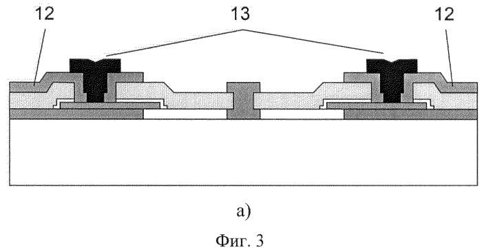Способ изготовления чувствительного элемента преобразователя давления на кни-структуре