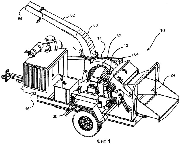 Автономный узел измельчителя для измельчения и просеивания материала