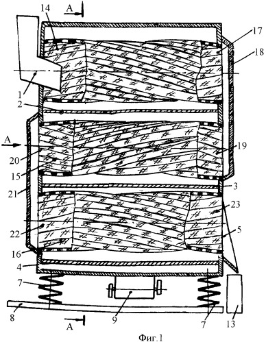 Барабанный грохот для классификации строительных материалов