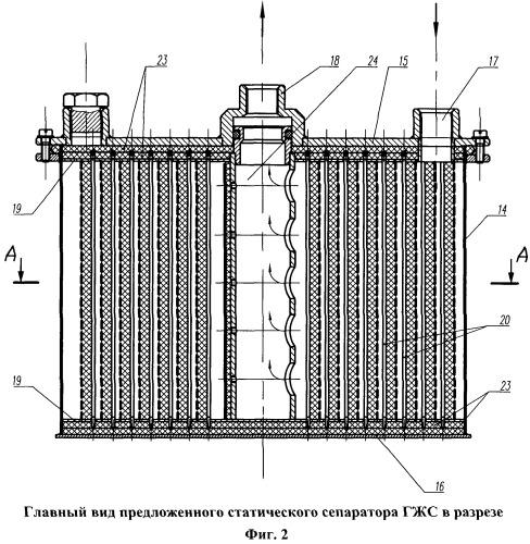 Узел приема и консервации мочи со статическим сепаратором для разделения газожидкостной смеси на борту космического летательного аппарата