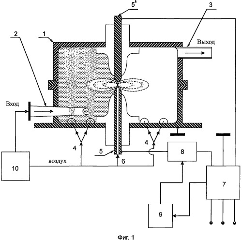 Устройство для обеззараживания стоков электрическими разрядами