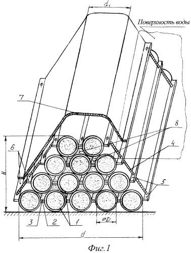 Защитная гибкая секционная дамба
