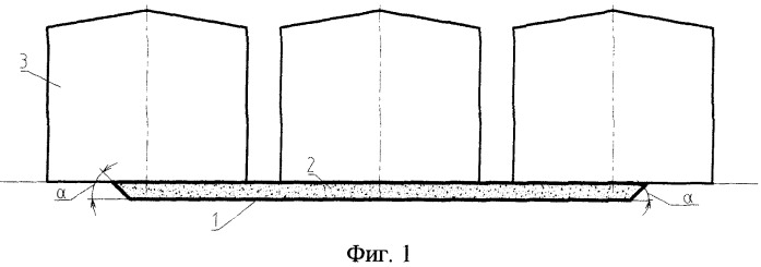 Основание для линейной группы резервуаров