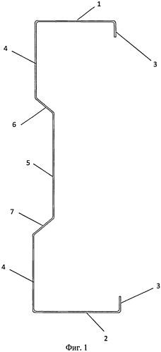 Гнутый стальной профиль и составной строительный элемент на его основе