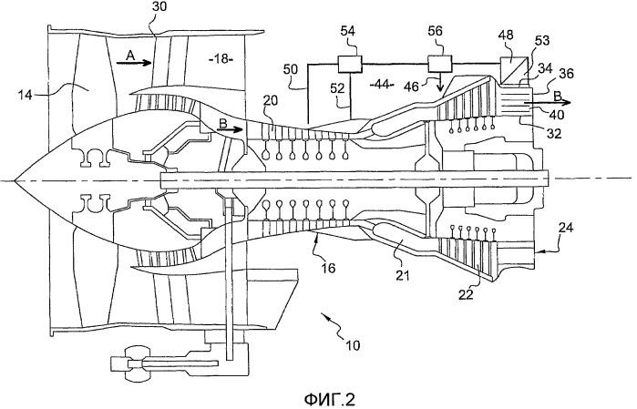 Вентиляция и наддув компонентов турбомашины