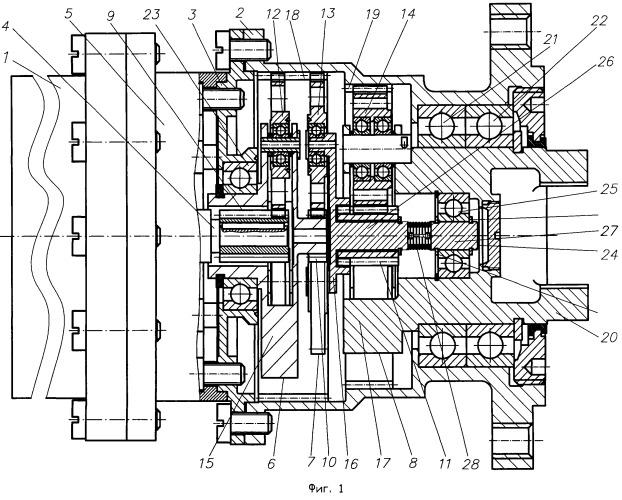 Электропривод с трехступенчатым планетарным редуктором