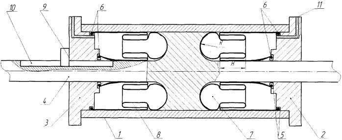 Уплотнение гидравлического и пневматического цилиндра двухстороннего действия