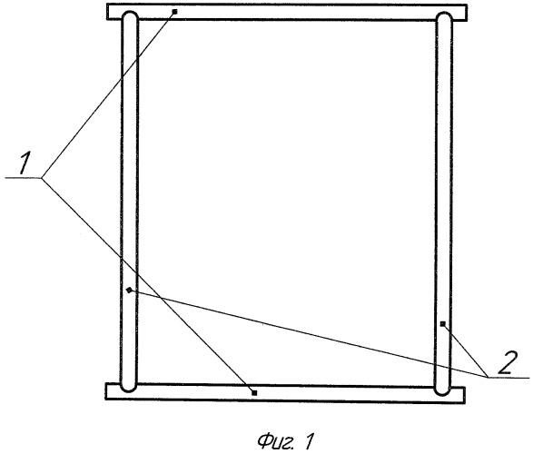 Распорная рамка утяжелителя подземного/подводного трубопровода