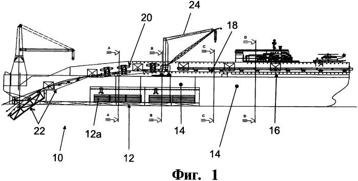 Способ укладки трубопровода с судна (варианты), способы хранения и предварительной сборки секций трубы на судне-трубоукладчике и судно-трубоукладчик (варианты)