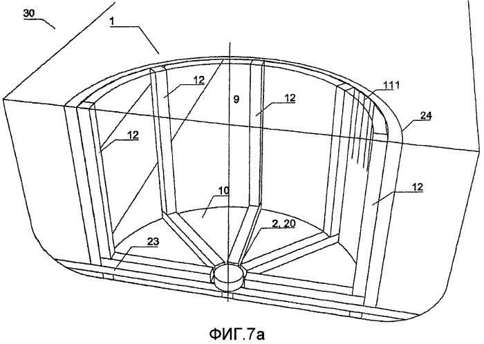 Резервуар для сжиженного газа с центральной втулкой в донной структуре