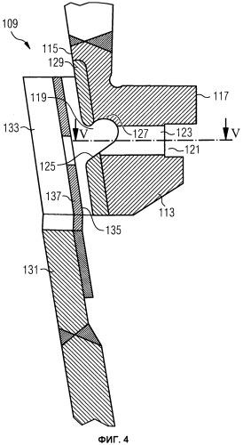 Опорное кольцо для элементов теплозащитного экрана жаровой трубы и система камеры сгорания с подобного рода опорным кольцом