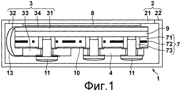 Электронная кассета для рентгеновского получения изображений