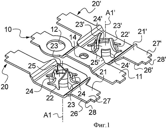 Соединительный контакт, оборудованный контактным гнездом для штырька электрической вилки, электрическая розетка, содержащая такой контакт, и способ изготовления такого контакта