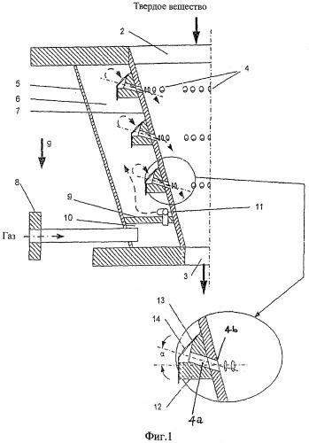 Устройство для выгрузки мелкозернистых или пылевидных твердых веществ из резервуара