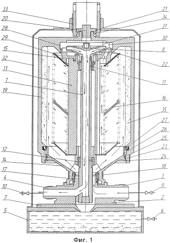Способ гидродинамической очистки от осадка загрязнений из центробежного очистителя жидкости и устройство для его осуществления