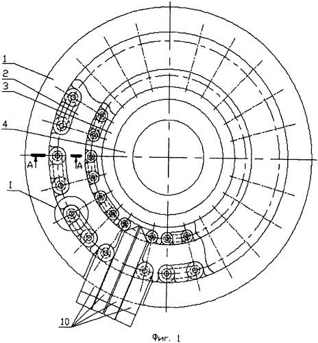 Контейнер пресса для изготовления крупногабаритных труб и профилей