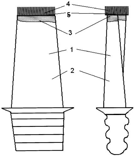 Способ восстановления торца пера лопатки турбомашины с формированием щеточного уплотнения