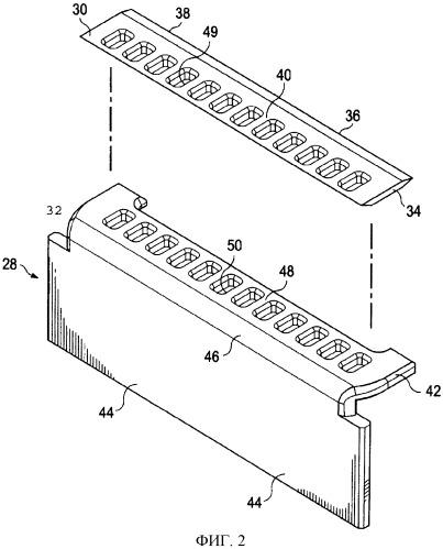 Картриджи для бритвенного прибора с перфорированными лезвийными сборками