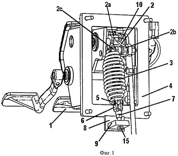 Педальный механизм для рабочего тормоза и способ его сборки