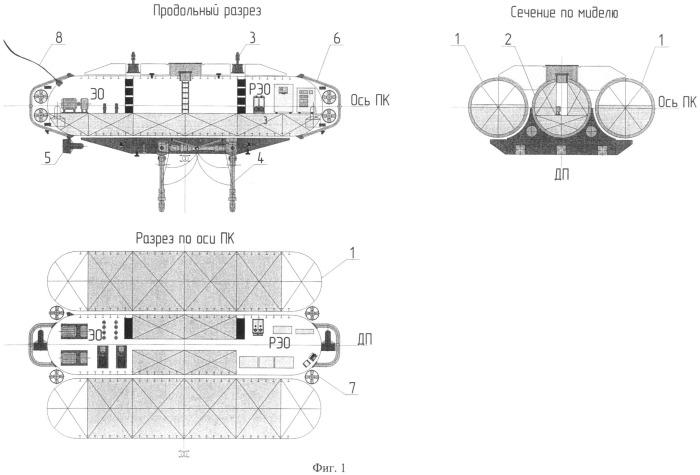 Способ подъема, перемещения и монтажа объектов обустройства морских месторождений углеводородов в подводно-подледном положении