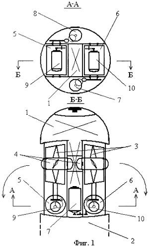Движительно-рулевой комплекс транспортировщика водолазов
