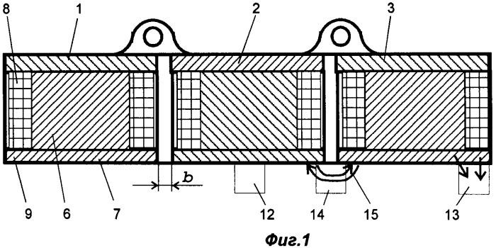 Прямоугольный грузоподъемный электромагнит