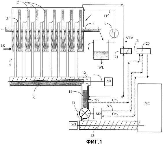 Система для приема и перемещения каустизационного шлама из фильтра для белого щелока