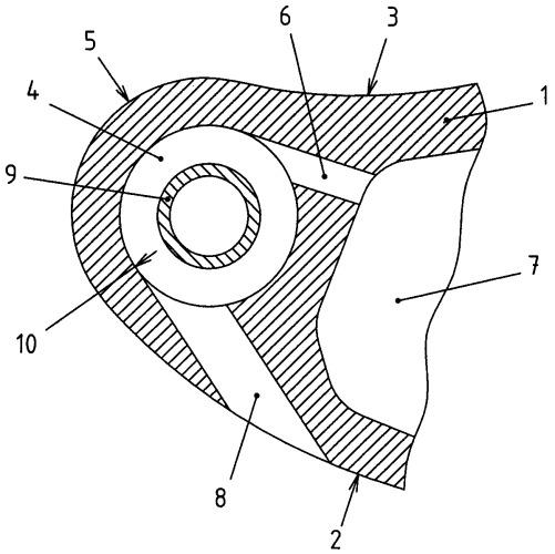 Элемент охлаждаемой лопатки турбомашины