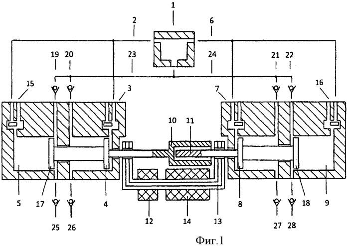 Способ увеличения эффективности процесса расширения продуктов сгорания перепуском воздуха между компрессорными полостями расширительных машин в свободнопоршневом двухцилиндровом энергомодуле с общей внешней камерой сгорания и линейным электрогенератором
