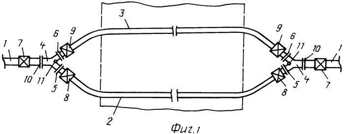 Соединение трубопровода подводного перехода