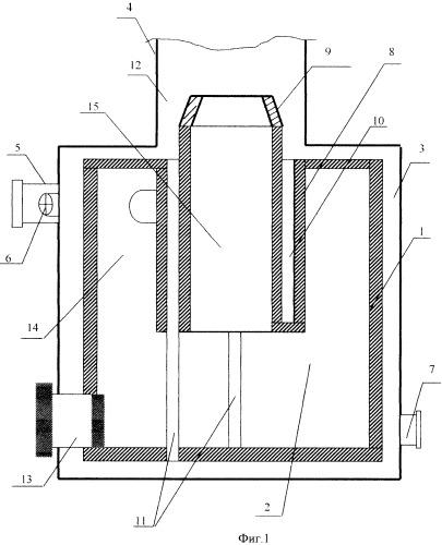 Циклонная камера для дожигания дымовых газов
