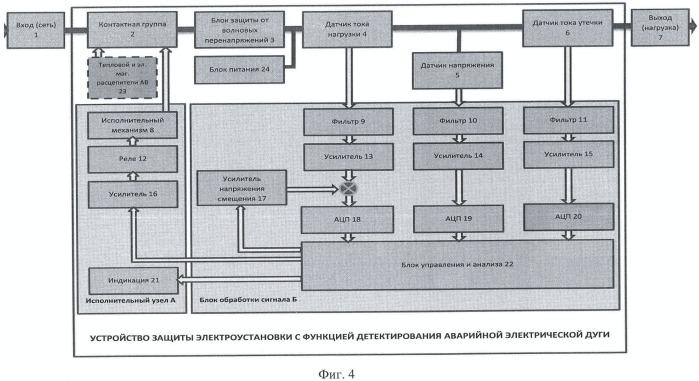 Способ детектирования аварийной электрической дуги и устройство для его осуществления