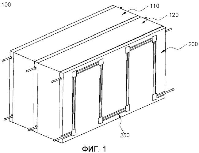 Модульная сборка аккумуляторных батарей с повышенной эффективностью охлаждения