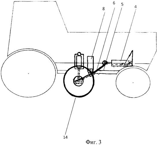 Устройство - цилиндроприжимной механизм для распределения собственной нагрузки с передней оси колесного трактора на дополнительно установленный движитель