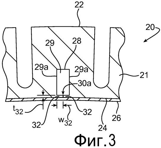 Элементы для сохранения пустых полостей в протекторе шины