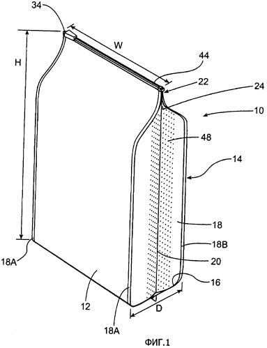 Прочная сумка со складкой на боковых поверхностях