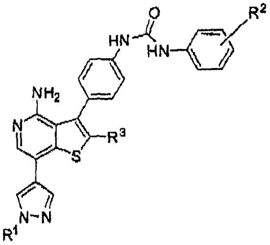 Производные тиено[3,2-с]пиридина в качестве ингибиторов киназ для применения в лечении рака
